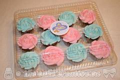 Gender Reveal Baby Shower Cupcakes