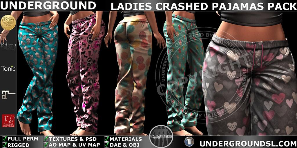 UG MESH LADIES CRASHED PAJAMAS PACK MP - SecondLifeHub.com