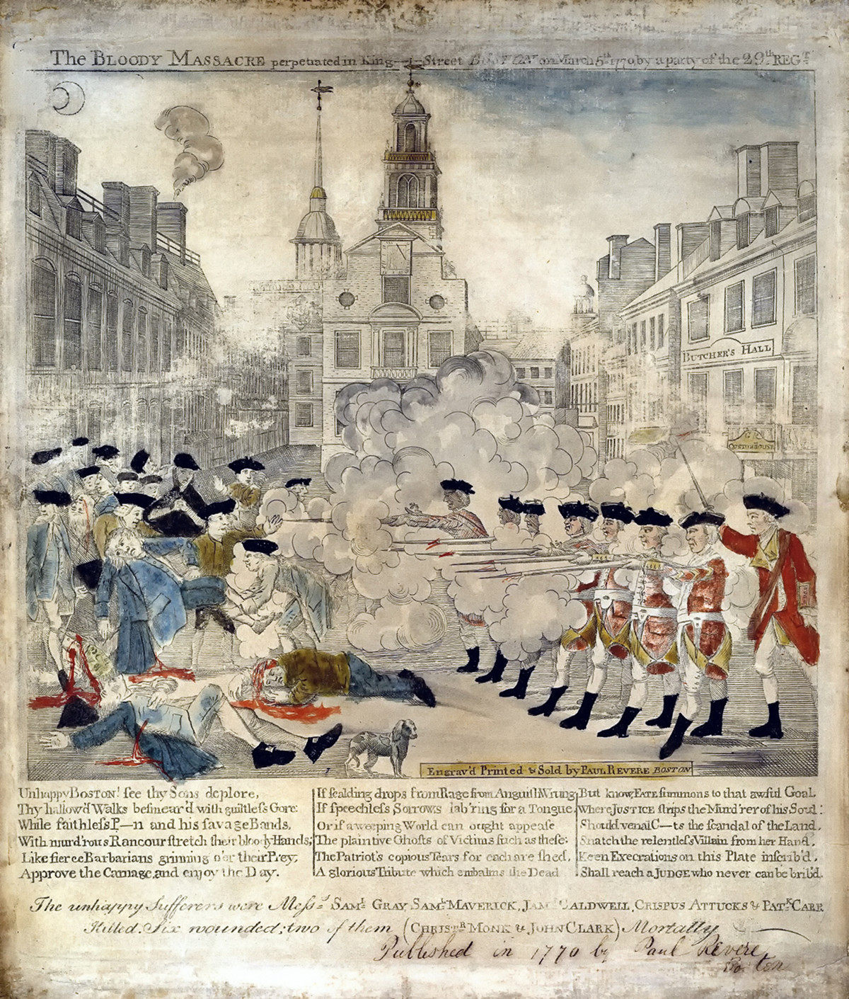 The bloody massacre perpetrated in King Street Boston on March 5th 1770 by a party of the 29th Regt.