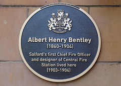 Photo of Albert Henry Bentley black plaque