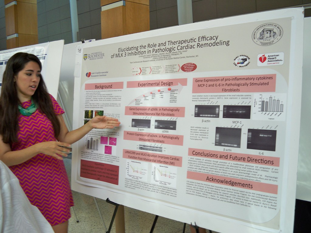 Christine Castro shows off her poster
