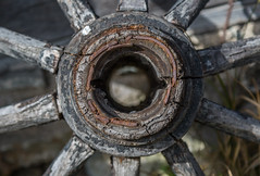 Old Wooden Wheel Close-Up