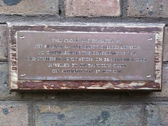 Photo of Old Students' Association, University College London brass plaque