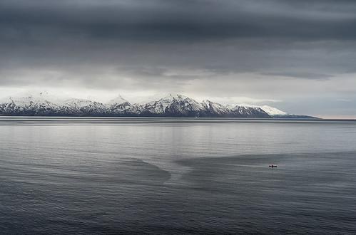 húsavík northeasternregion iceland is skjálfandi glacier water outdoors cold landscape kayak mountains