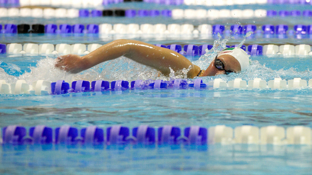 A swimmer in the pool at the University of Bath