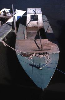 Docked oyster skiff - Apalachicola