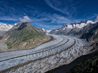 Extreme Environments: The Aletsch Glacier, Bernese Alps, Valais, Switzerland