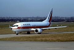 LN-NOR B737 Air Europe BHX 14-02-1989