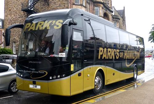 2 WR 'Parks of Hamilton' Volvo B9R / Jonkheere SHV on 'Dennis Basford's railsroadsrunways.blogspot.co.uk'