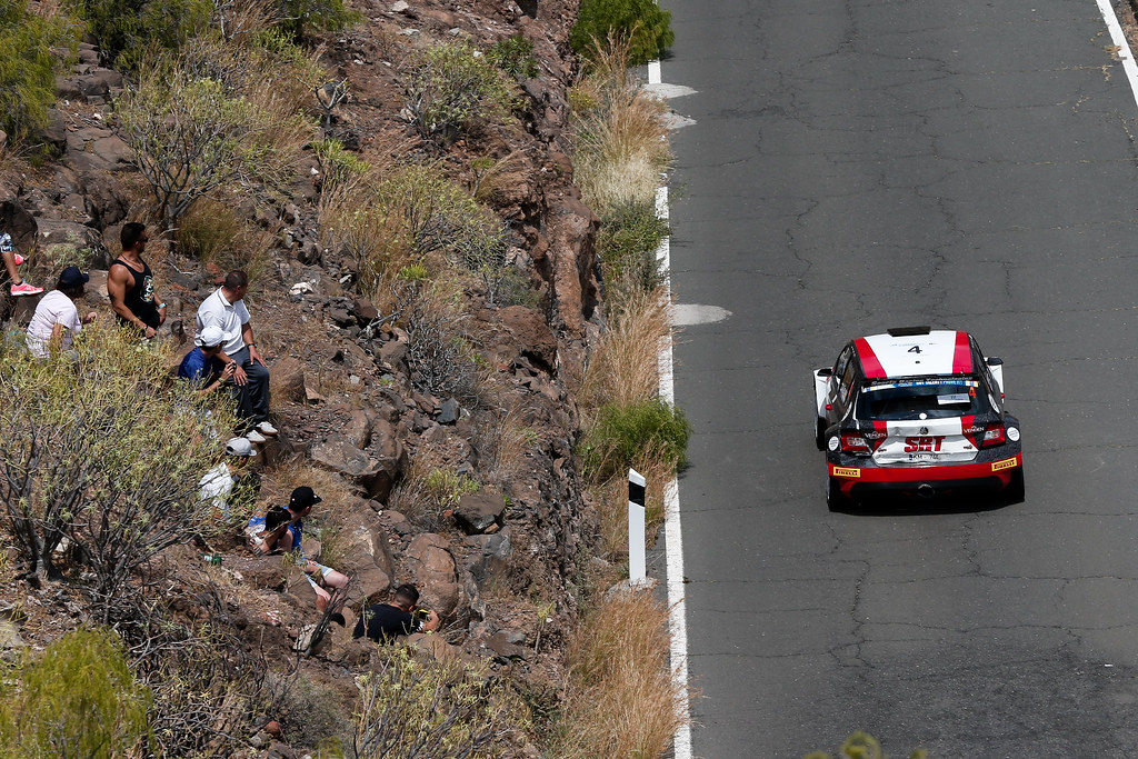 04 GRYAZIN Nicolas (LVA), FERODOV Yaroslav (RUS), Skoda Fabia R5 Action during the 2017 European Rally Championship ERC Rally Islas Canarias, El Corte Inglés,  from May 4 to 6, at Las Palmas, Spain - Photo Alexandre Guillaumot / DPPI