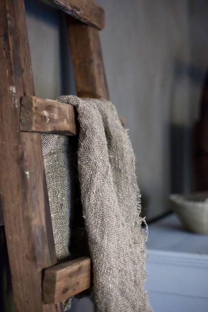 Oude ladder linnen doek