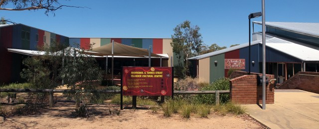 Aboriginal Cultural Centre Canberra with Art Gallery on Right
