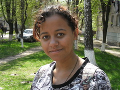 Beautiful Faiza from Donetsk live and study in Vinnitsya. Her father's from Sudan