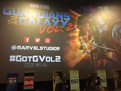 #GotGVol2? I do! #GuardiansoftheGalaxy #Vol2! We are in and 15 minute until it starts!