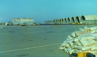 1975 A load of rice at the 41 Sqn detachment at Saigon's Tan Son Nhut Airport to be flown to An Thoi Island