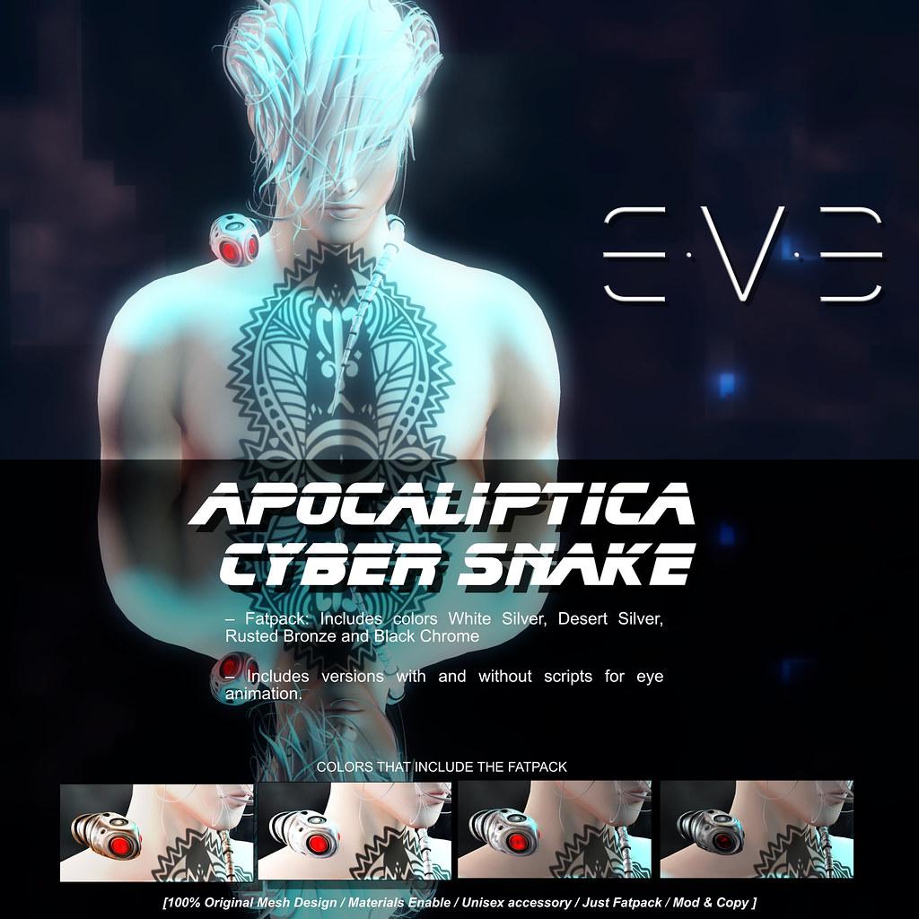E.V.E Apocaliptica Cyber Snake Vendor - SecondLifeHub.com
