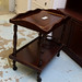 Mahogany drinks trolley E50