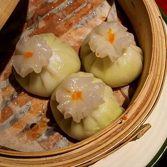 •Edamame Dumplings with Truffle Oil•