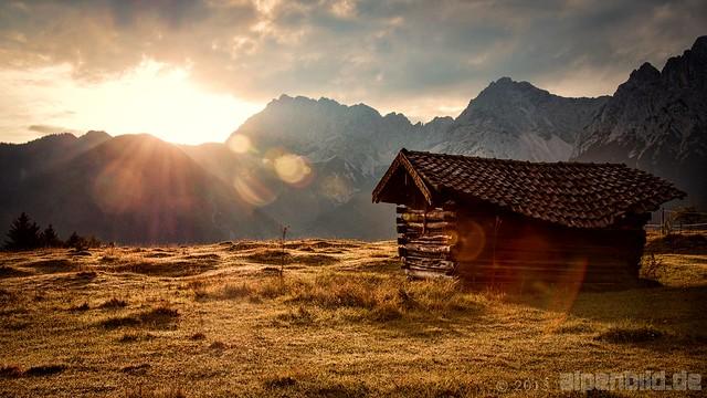 Old Mountain Hut at Sunrise
