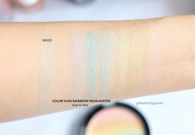 Wet N Wild Color Icon Rainbow Highlighter swatches