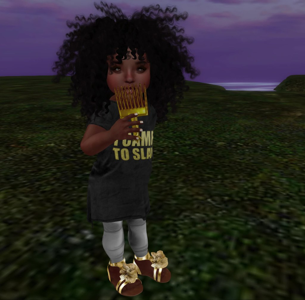The Breaux Jr. Lit Hair Accessories Gold Pick - SecondLifeHub.com