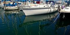 Reflejos en el Muelle deportivo de Las Palmas de Gran Canaria