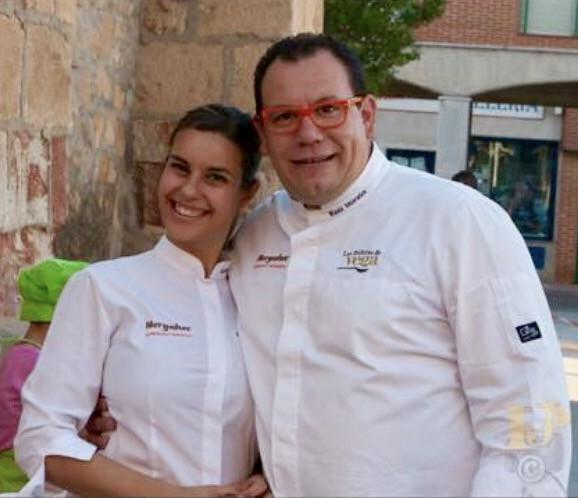 Gemma García y Raul Morales, tercera generación de empresarios de la fábrica de morcillas y farinatos Hergaher, Premio a la Innovación de CONFAES 2017.