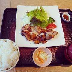お昼に大戸屋。京都で遭遇!キャベツシャキシャキ。 #lunch #kyoto #お昼