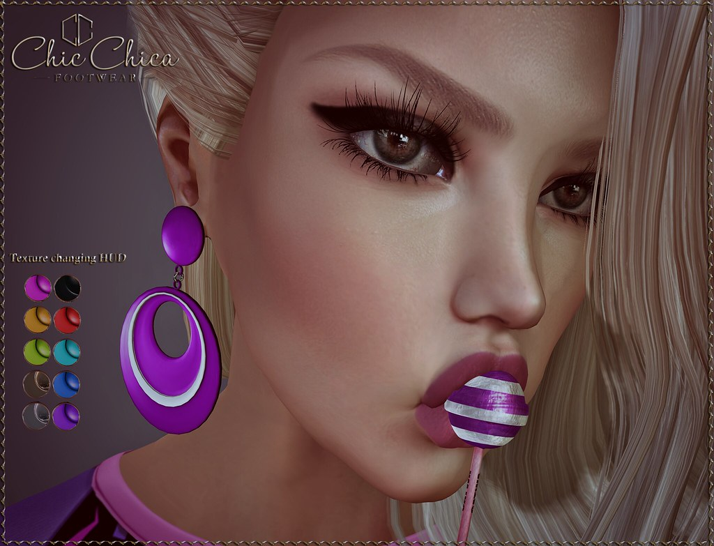 Ava earrings by ChicChica @ Rewind 80s soon - SecondLifeHub.com