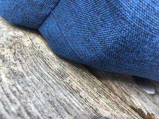 Jeans on wood