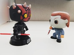 no, it never needs to be sharpened #funkopop #funkophotoaday #darthmaul #michaelmyers #disney