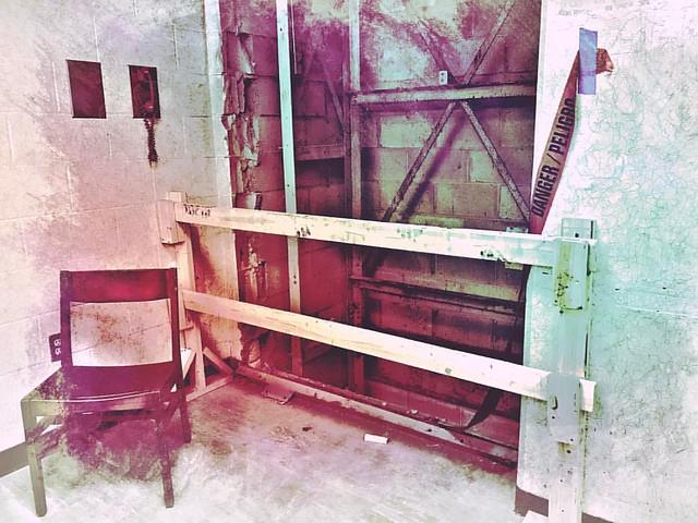 Danger #chairs #bookelevator #renovation #hermanbwellslibrary #danger #peligro