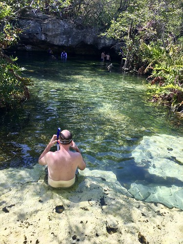 Snorkeling in a Mexican cenote