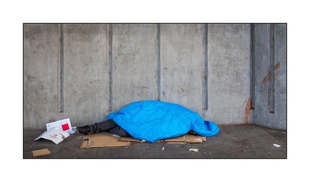 Homeless Man, East London, England.