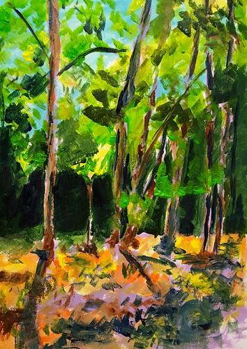 painting acrylic trees fauve landscape