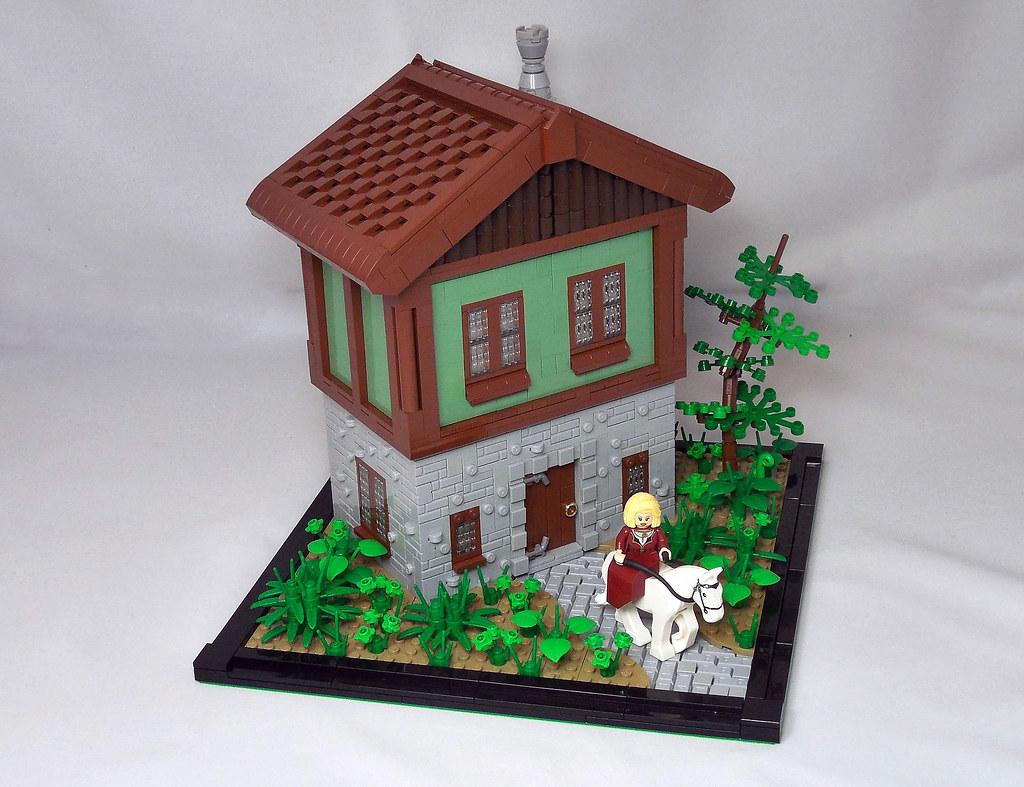 House in the Woods (custom built Lego model)