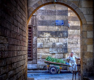 Artichot street vendor in Old Cairo