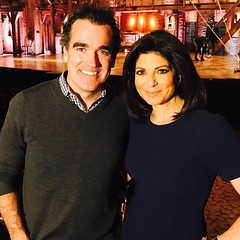 The always fabulous @briandarcyjames @hamiltonmusical talking about life as #KingGeorge #broadway #13reasonswhy