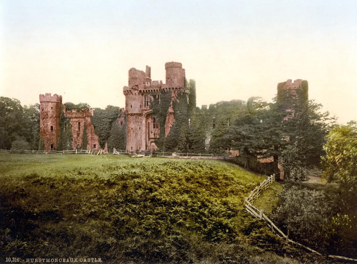 Hurstmonceux Castle, 1895