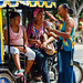 Women Chatting at Moto-Taxi, Fonseca Colombia