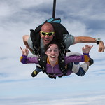 Tandem Student Jacqui Is All Smiles At 14,000 Feet!