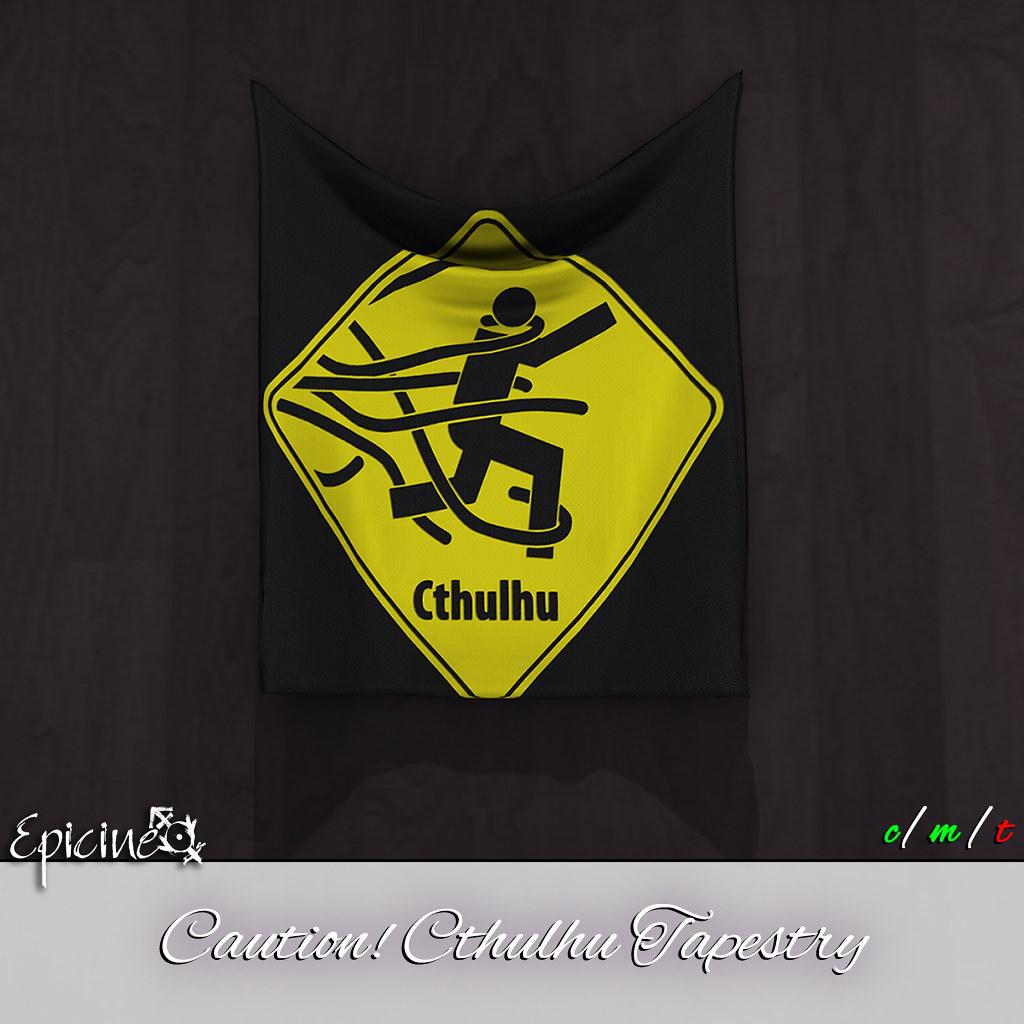 Epicine - Caution! Cthulhu Tapestry - SecondLifeHub.com