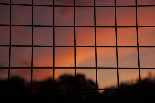 Sunset behind bars (kasiainwales)