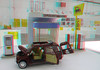 gas station - miniature