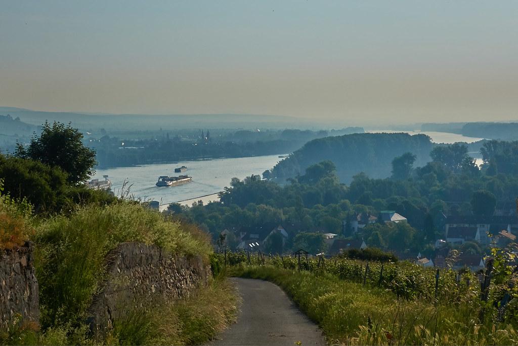 Blick auf den Rhein und Kempten