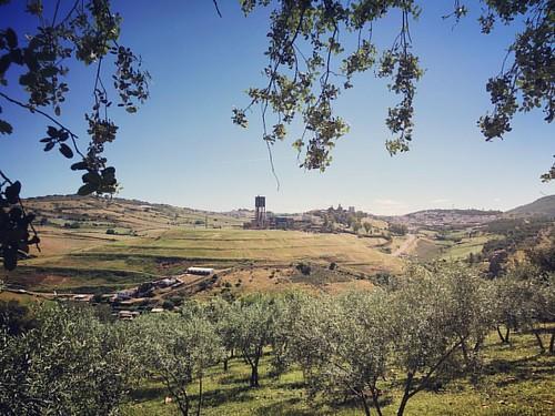 Almadén vista desde la subida a la Virgen del Castillo