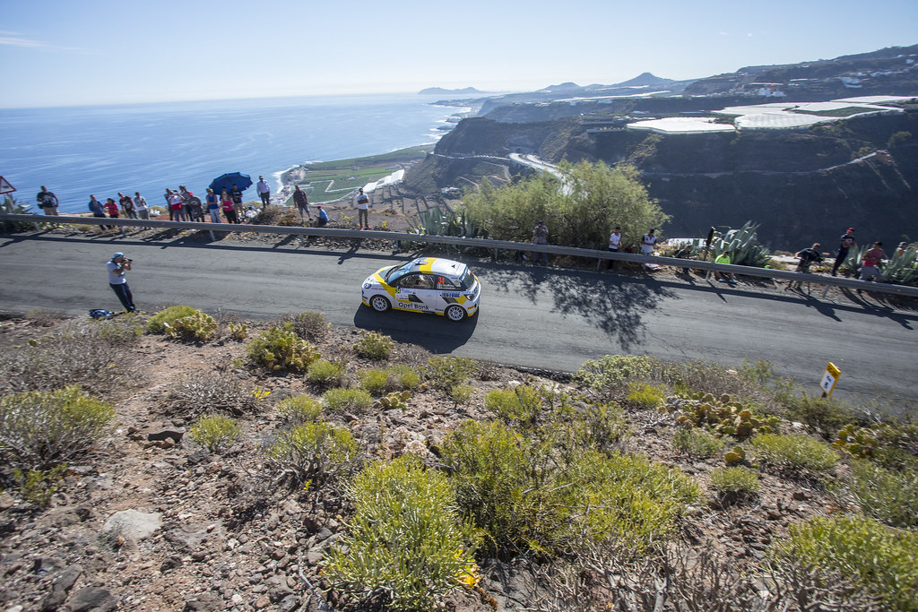 34 HUTTUNEN Jari (FIN) LINNAKETO Antti (FIN) Opel Adam R2 Action during the 2017 European Rally Championship ERC Rally Islas Canarias, El Corte Inglés,  from May 4 to 6, at Las Palmas, Spain - Photo Gregory Lenormand / DPPI
