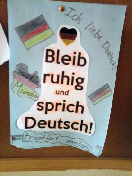 Bleib ruhig und sprich Deutsch