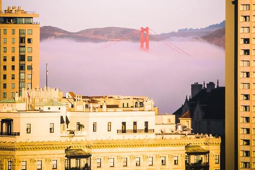 america bayarea california fairmont fairmonthotel goldengatebridge karlthefog sanfrancisco usa unitedstates unitedstatesofamerica westcoast bridge fog us fav10 fav25 fav50