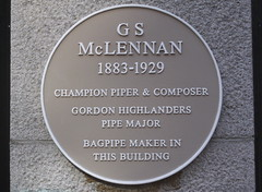 Photo of G S McLennan yellow plaque
